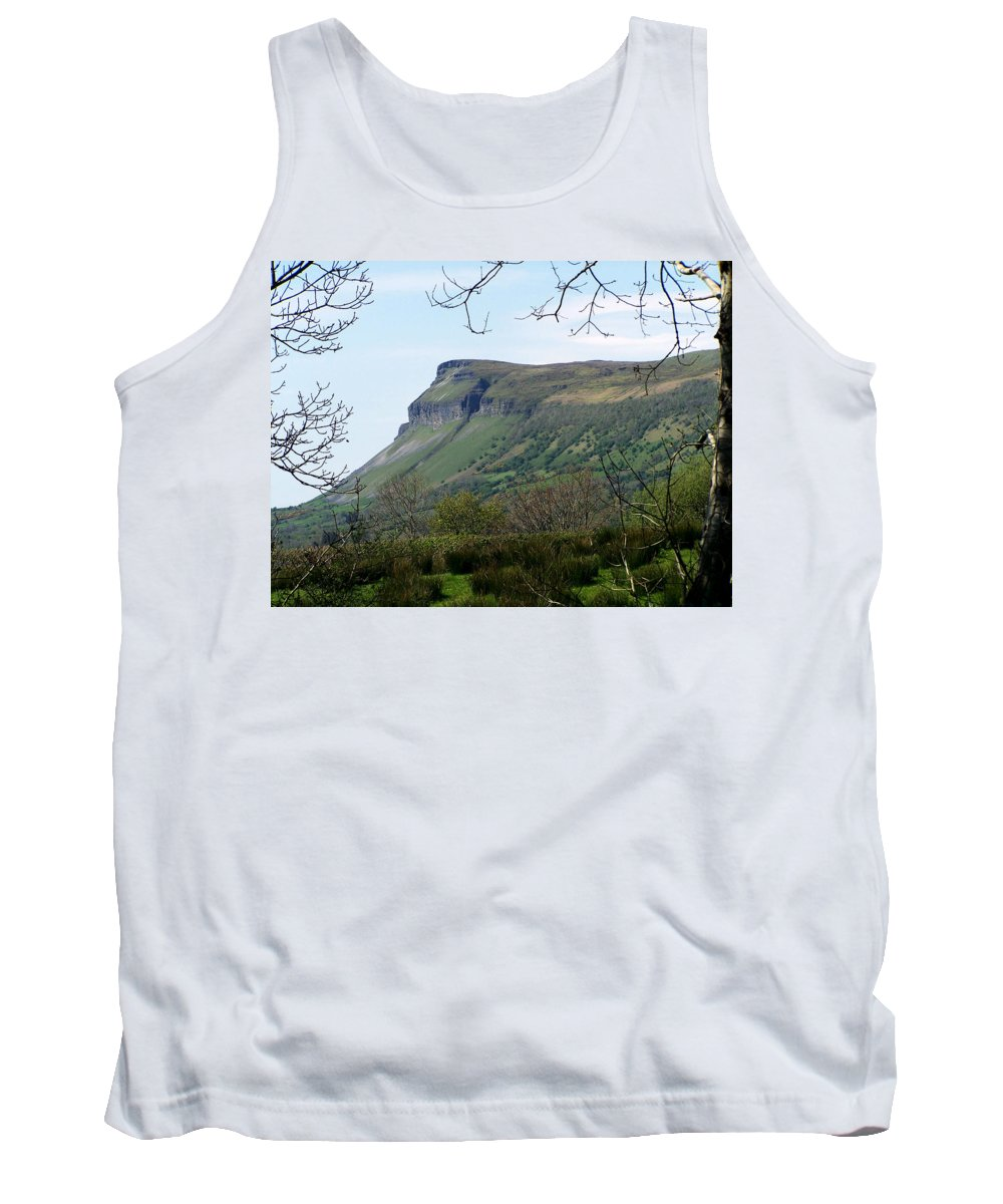 Irish Tank Top featuring the photograph View Of Benbulben From Glencar Lake Ireland by Teresa Mucha