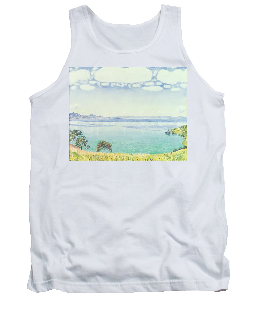 View Tank Top featuring the painting View Of Lake Leman From Chexbres by Ferdinand Hodler