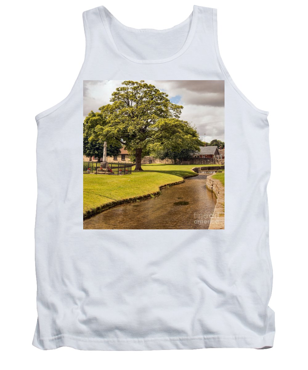 England - Landscape - Village - Nature - Trees - Stream - Memorial Tank Top featuring the photograph Village Green by Chris Horsnell
