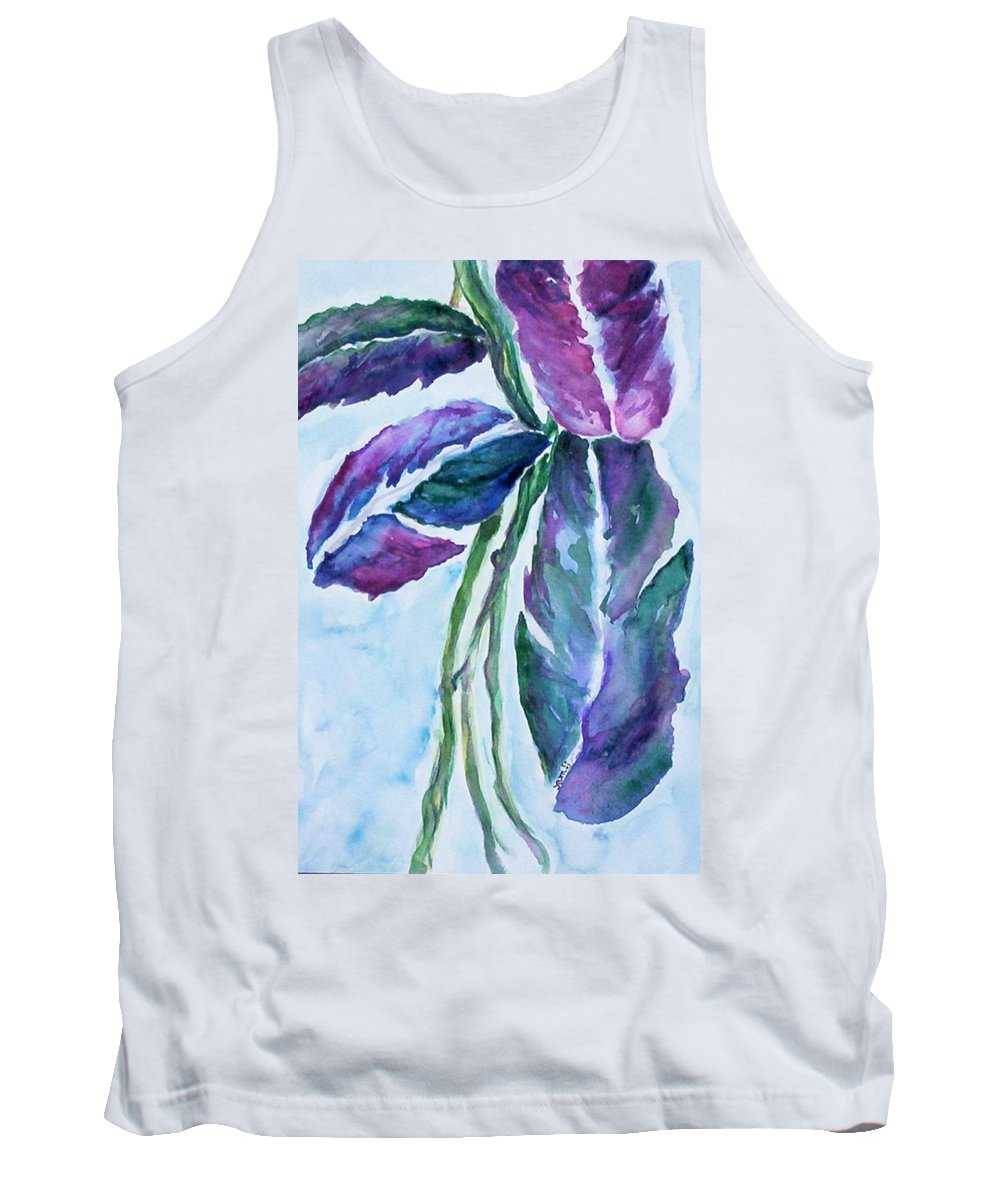 Landscape Tank Top featuring the painting Vine by Suzanne Udell Levinger
