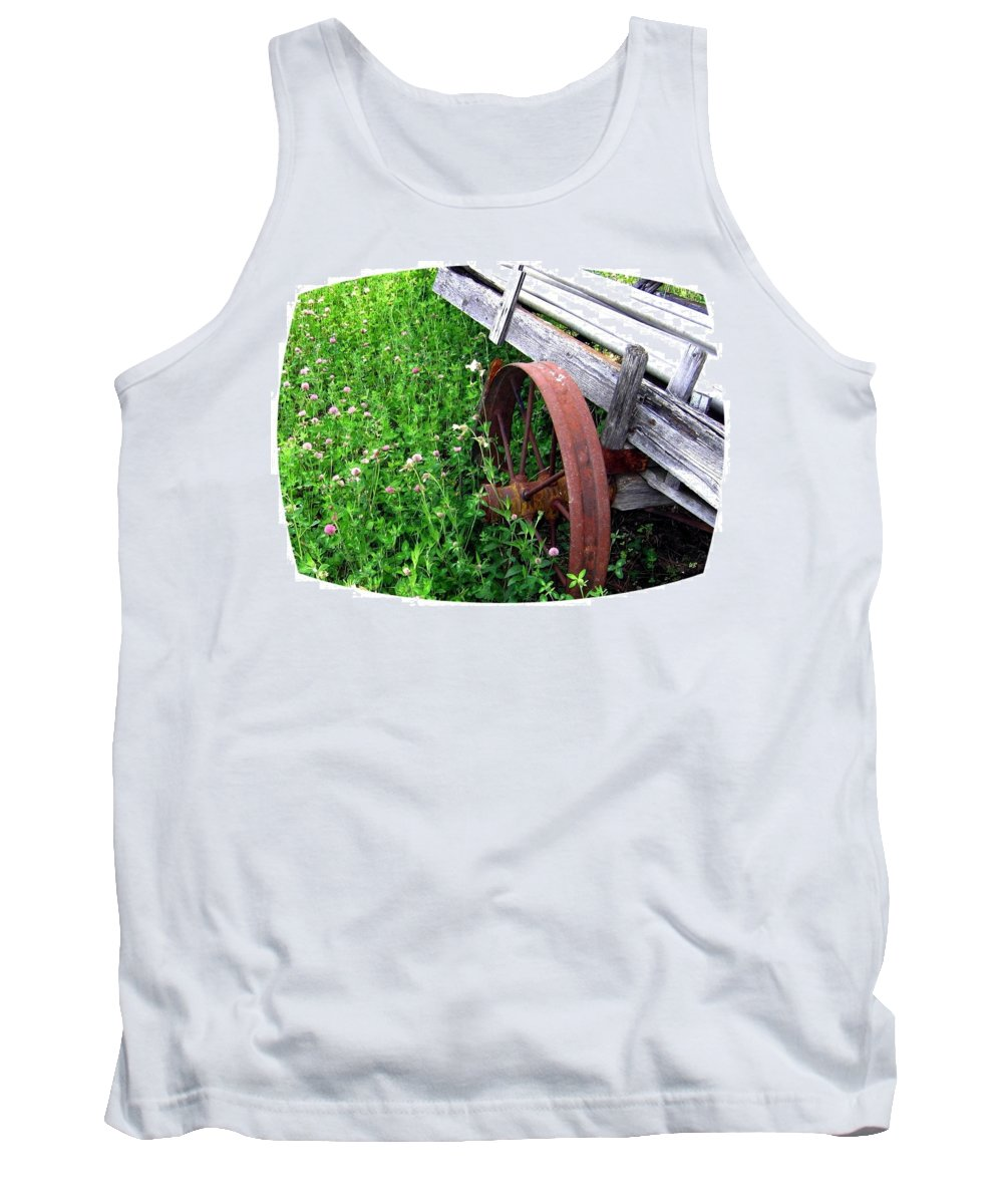 Irrigation Wagon Tank Top featuring the photograph Vintage Irrigation Wagon by Will Borden