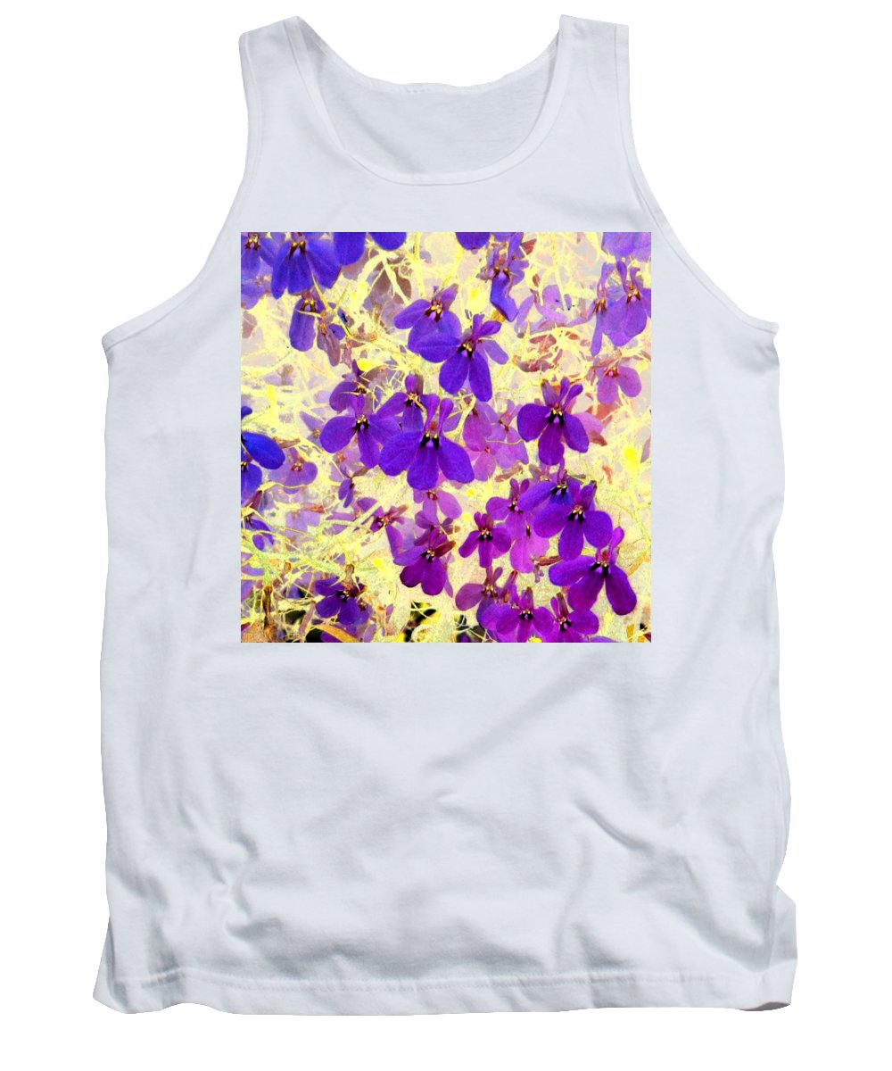 Flowers Tank Top featuring the photograph Violet Moths by Marianne Dow