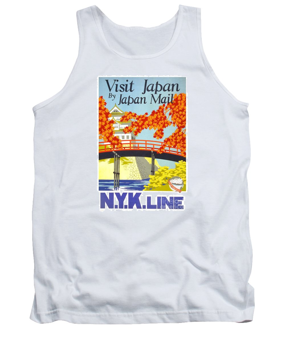 Visit Japan Tank Top featuring the painting Visit Japan by Pd