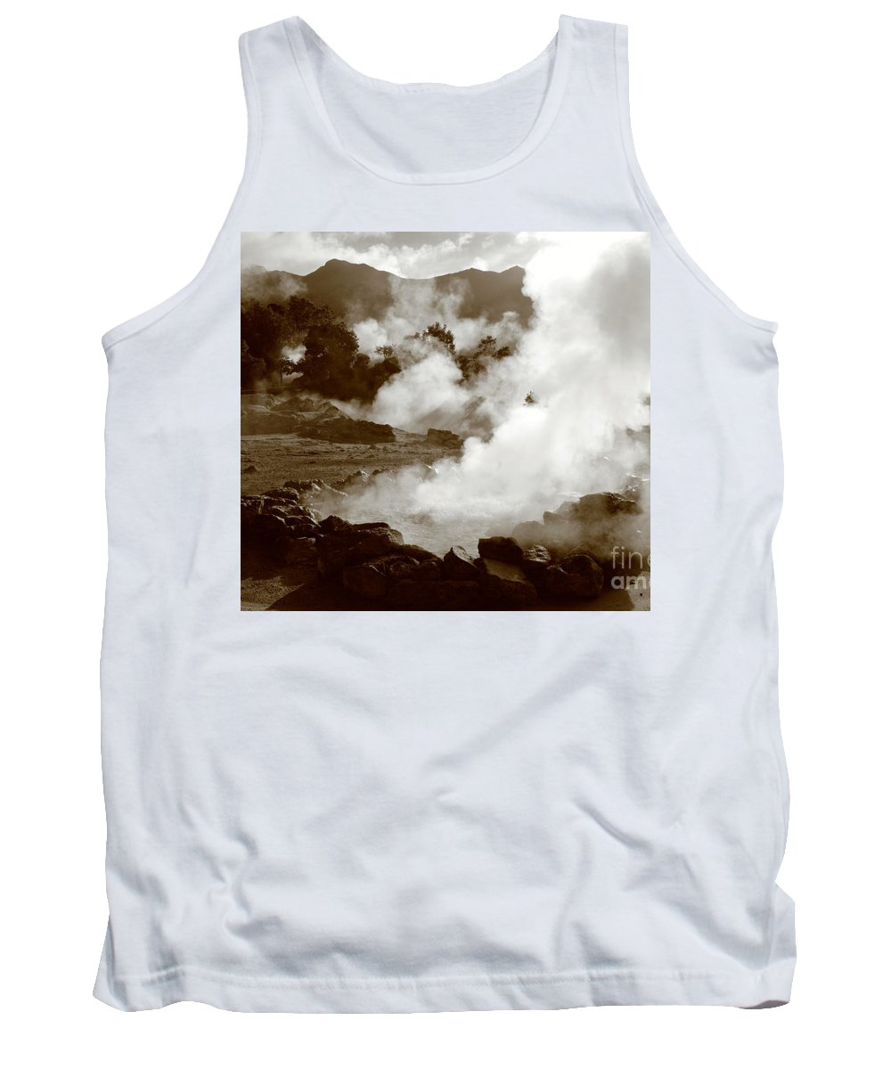Azores Tank Top featuring the photograph Volcanic Steam by Gaspar Avila