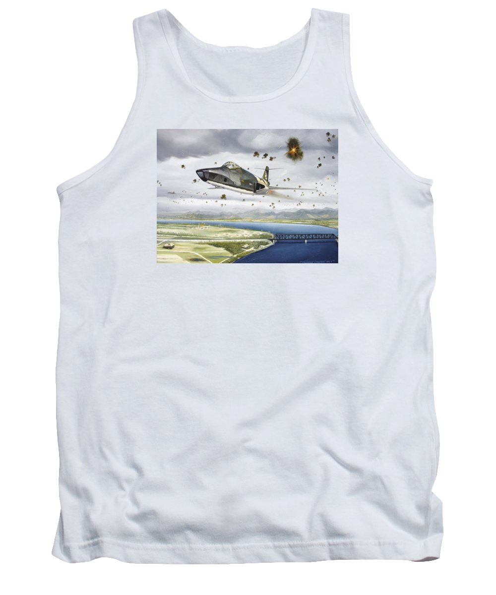 Military Tank Top featuring the painting Voodoo Vs The Dragon by Marc Stewart