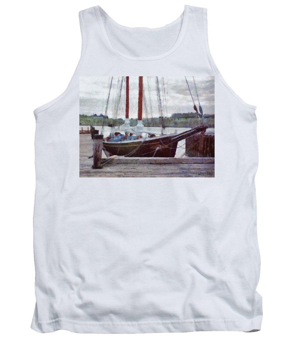 Canadian Tank Top featuring the painting Waiting To Sail by Jeffrey Kolker