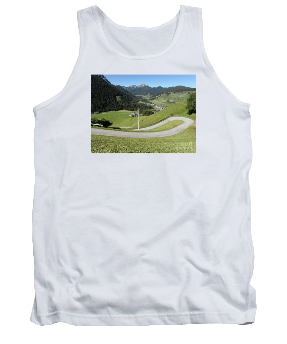 Walking Tank Top featuring the photograph Walking Near Niederdorf In The Dolomites by Quintin Rayer