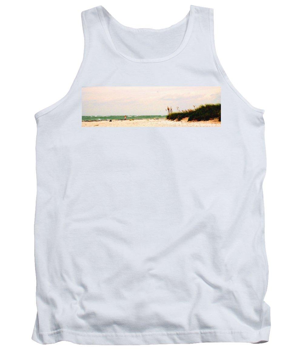 Florida Tank Top featuring the photograph Walking The Beach by Ian MacDonald