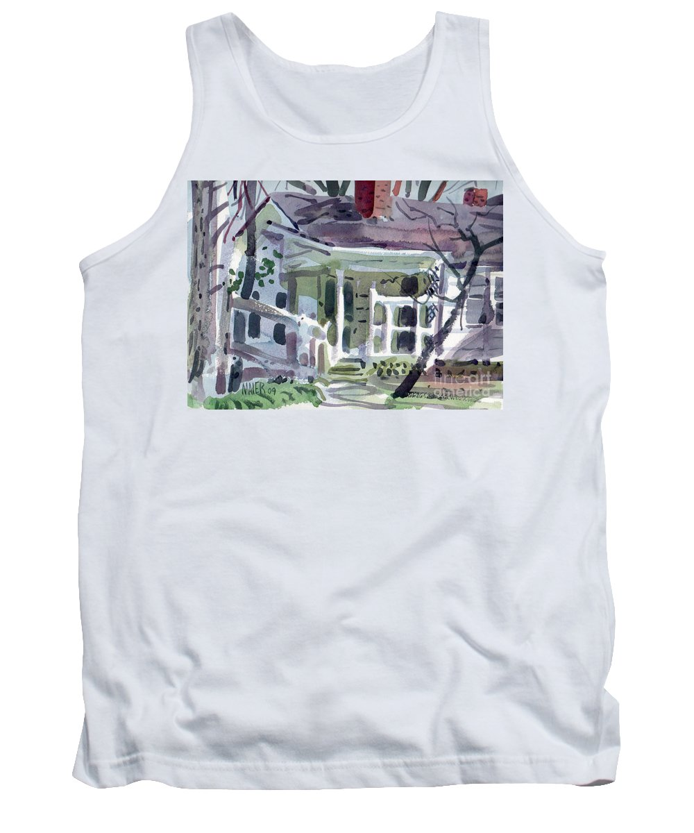 Wallis House Tank Top featuring the painting Wallis House by Donald Maier