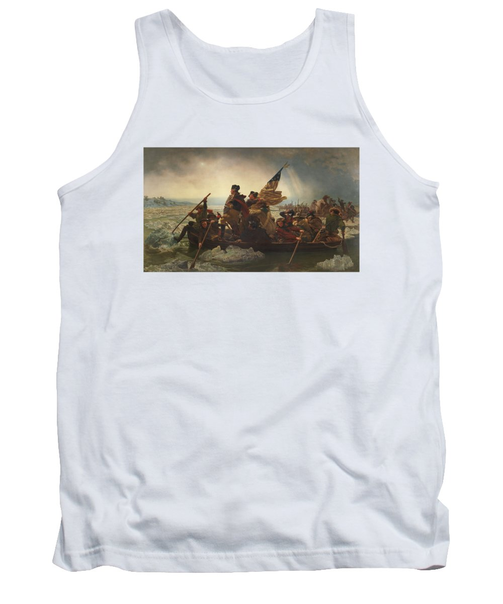 George Washington Tank Top featuring the painting Washington Crossing The Delaware by War Is Hell Store