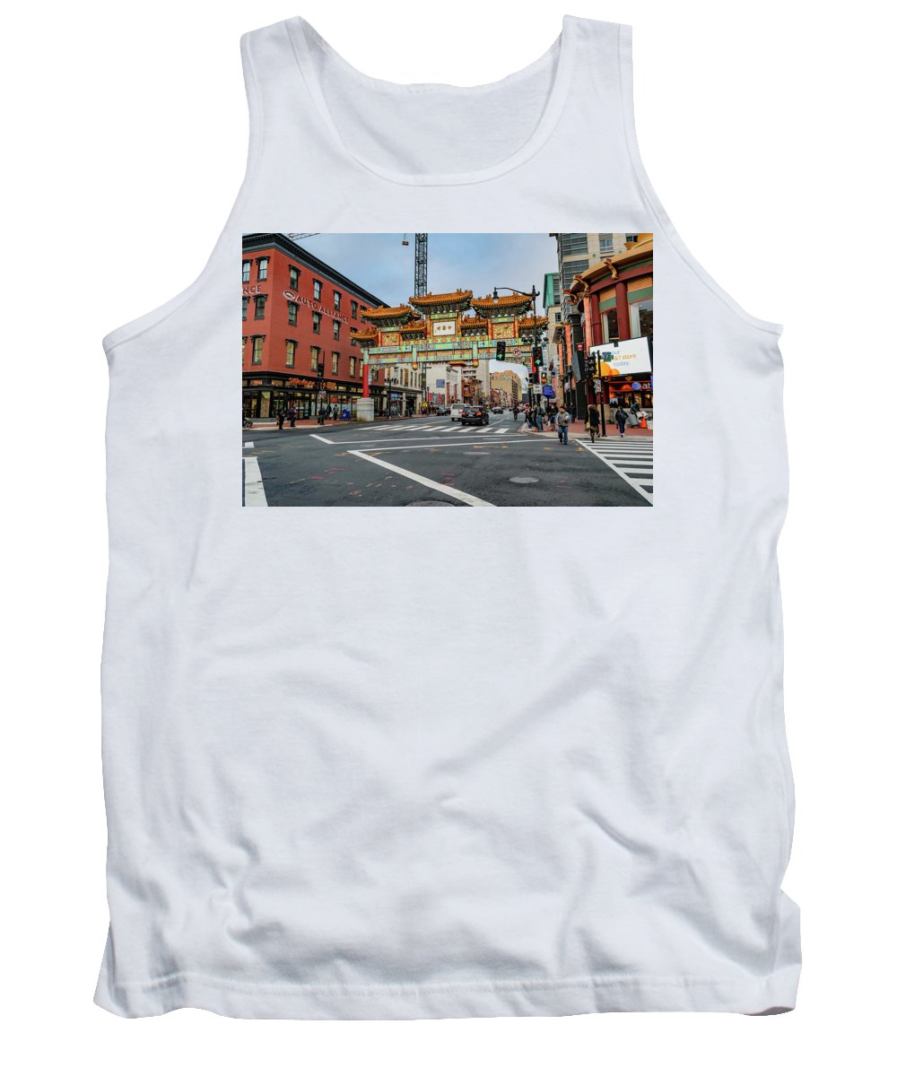 Asian Tank Top featuring the photograph Washington D.c. Chinatown by Cityscape Photography