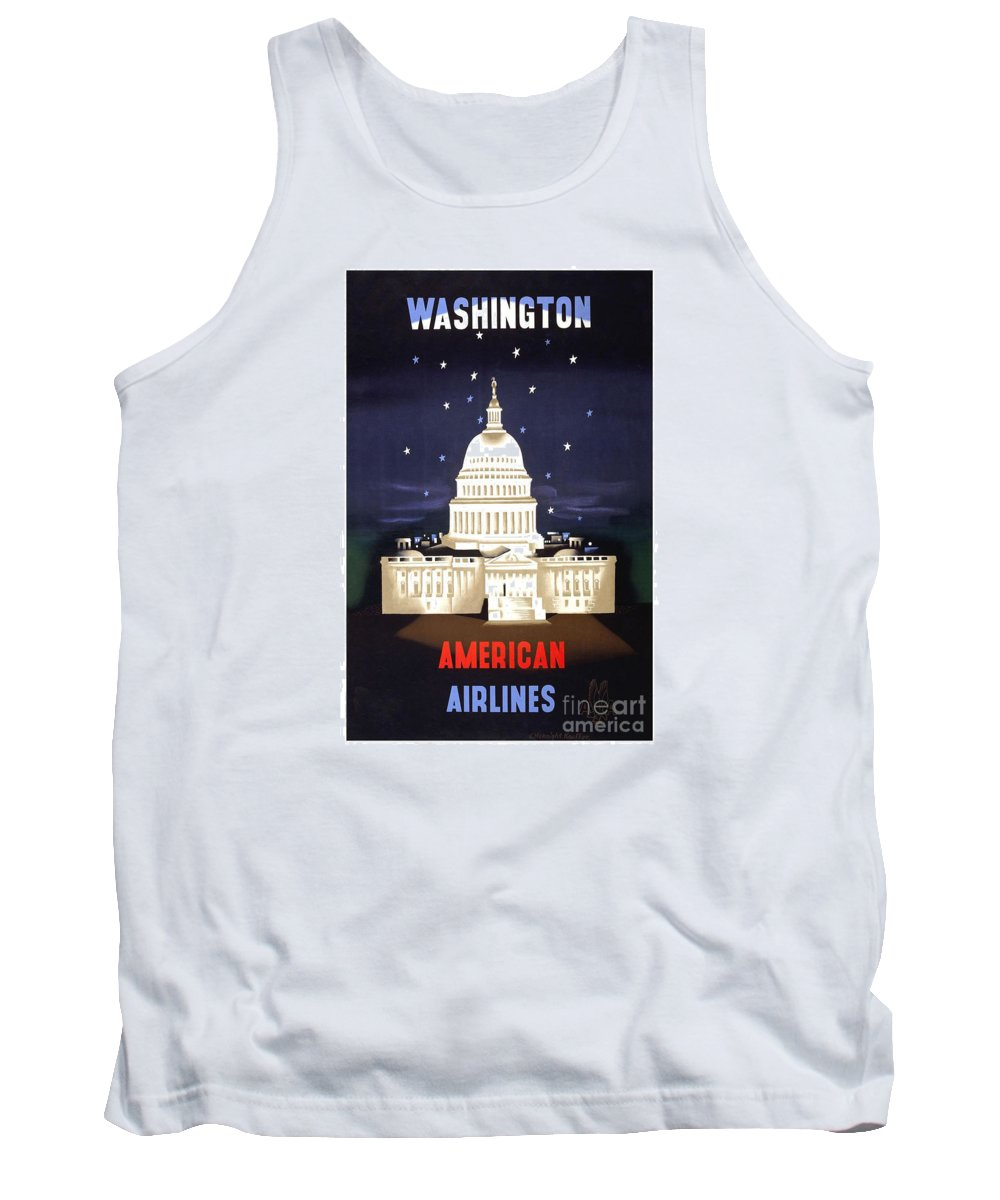 Washington Dc Tank Top featuring the painting Washington Dc by Pd