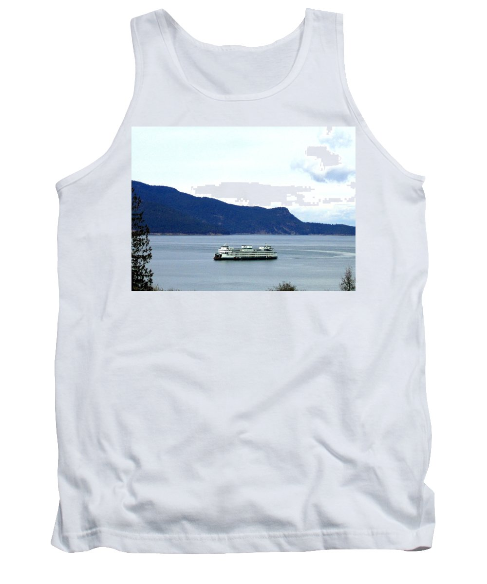 Washington State Ferry Tank Top featuring the photograph Washington State Ferry by Will Borden