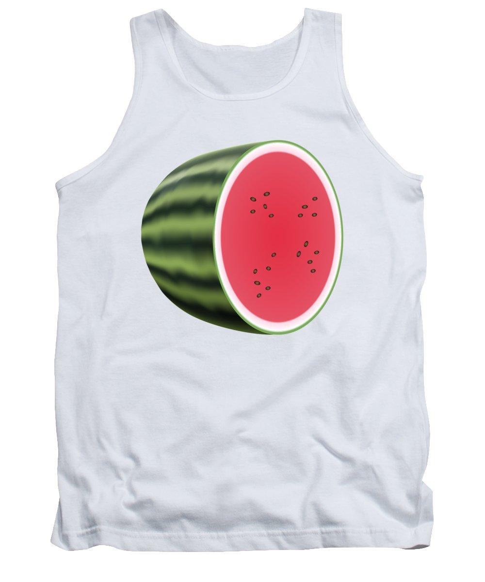 3d Tank Top featuring the digital art Water Melon by Miroslav Nemecek