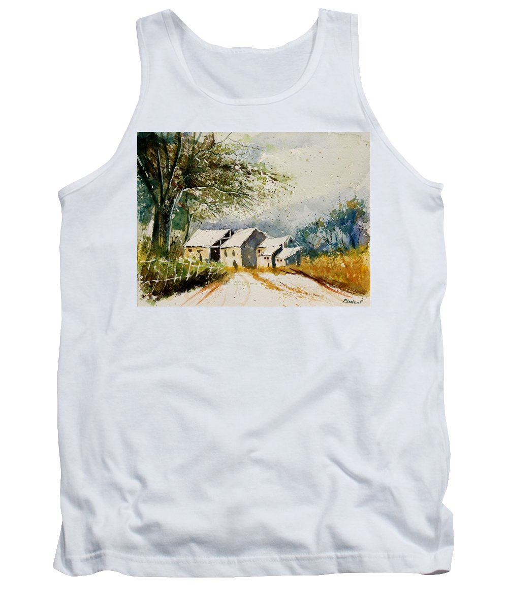 Landscape Tank Top featuring the painting Watercolor 010708 by Pol Ledent