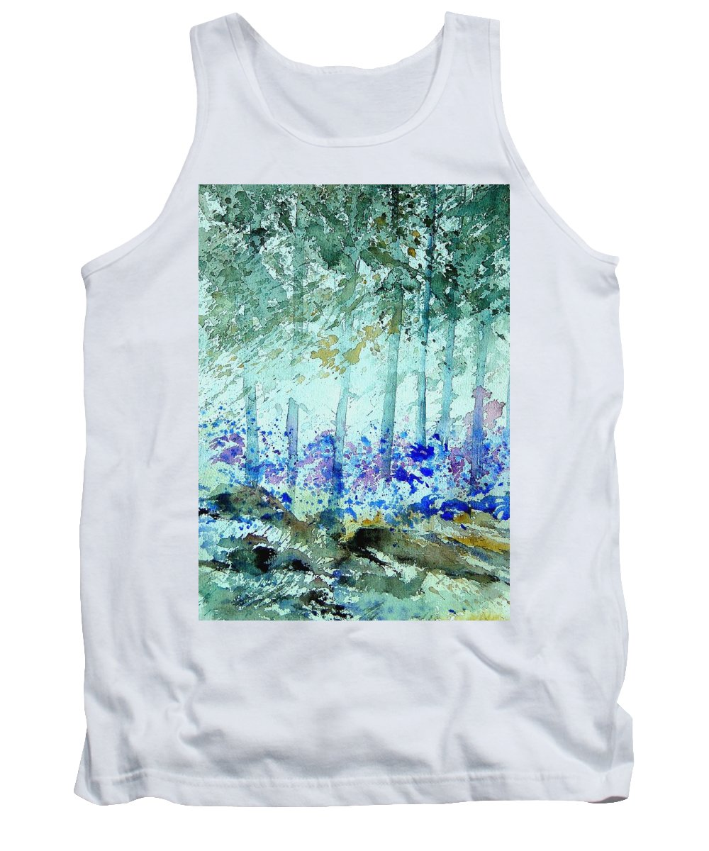 Tree Tank Top featuring the painting Watercolor 011105 by Pol Ledent