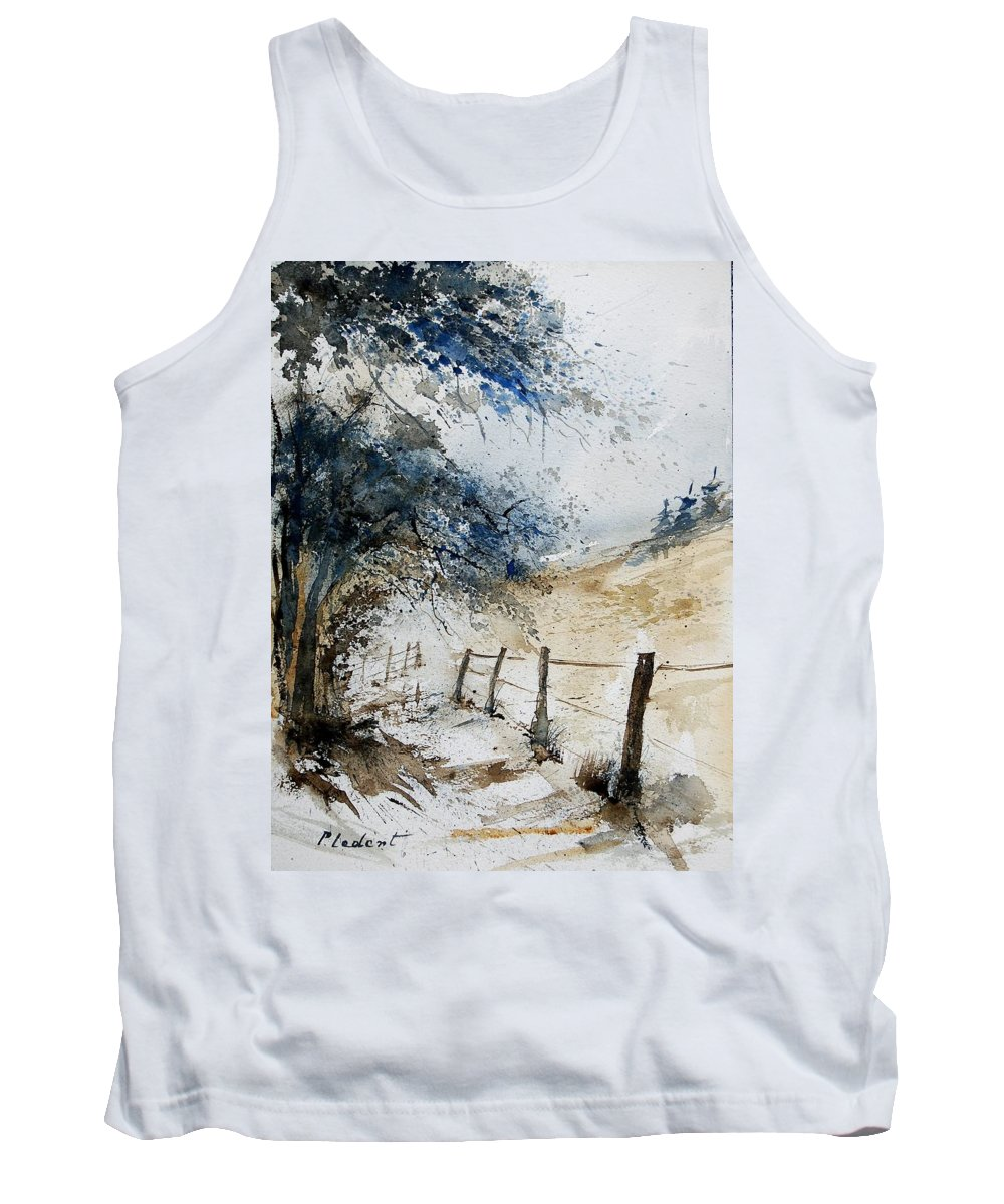 Winter Tank Top featuring the painting Watercolor 061106 by Pol Ledent