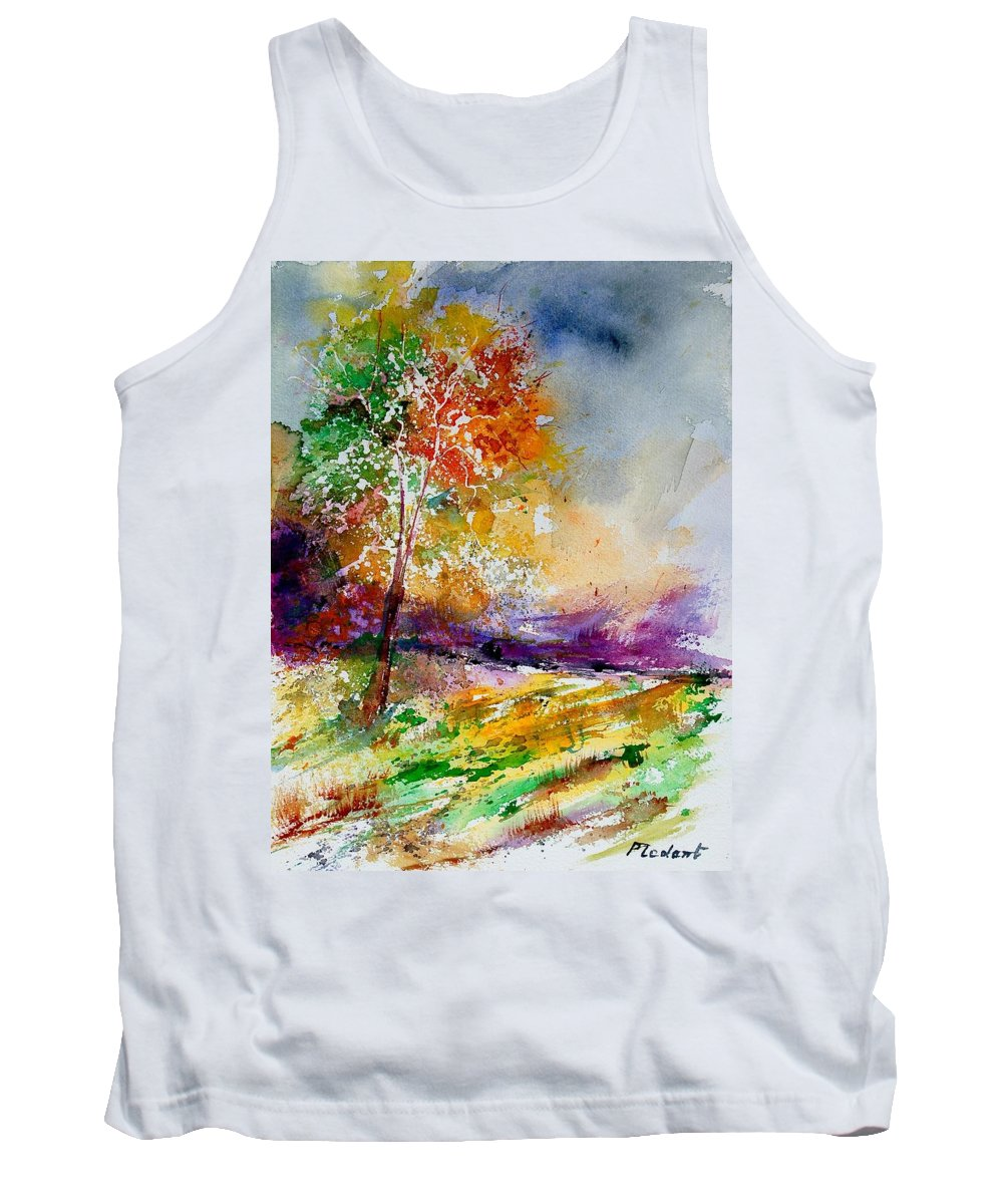 Spring Tank Top featuring the painting Watercolor 100507 by Pol Ledent