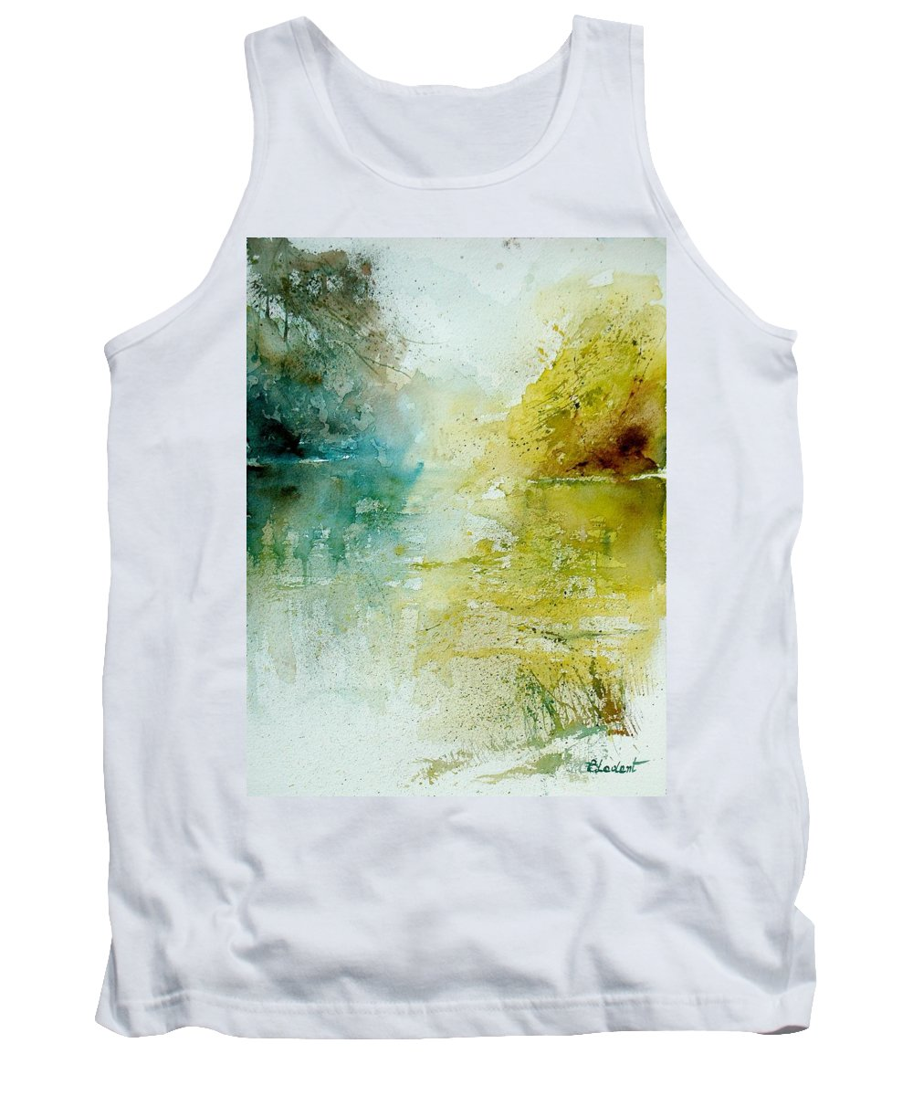 Water Tank Top featuring the painting Watercolor 111207 by Pol Ledent