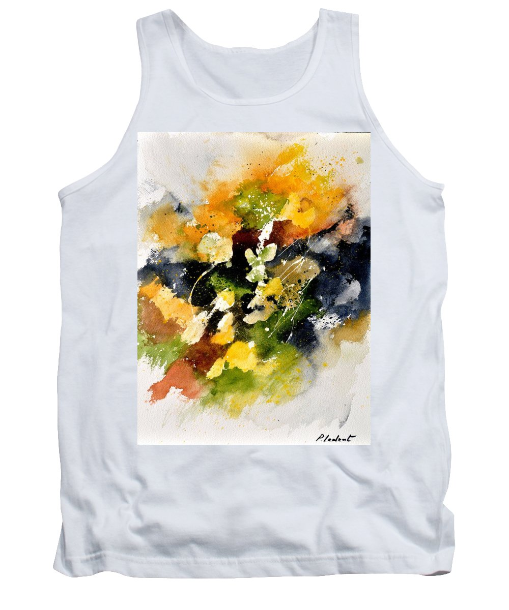 Abstract Tank Top featuring the painting Watercolor 115002 by Pol Ledent