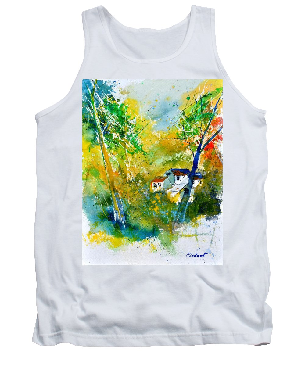 Landscape Tank Top featuring the painting Watercolor 115021 by Pol Ledent
