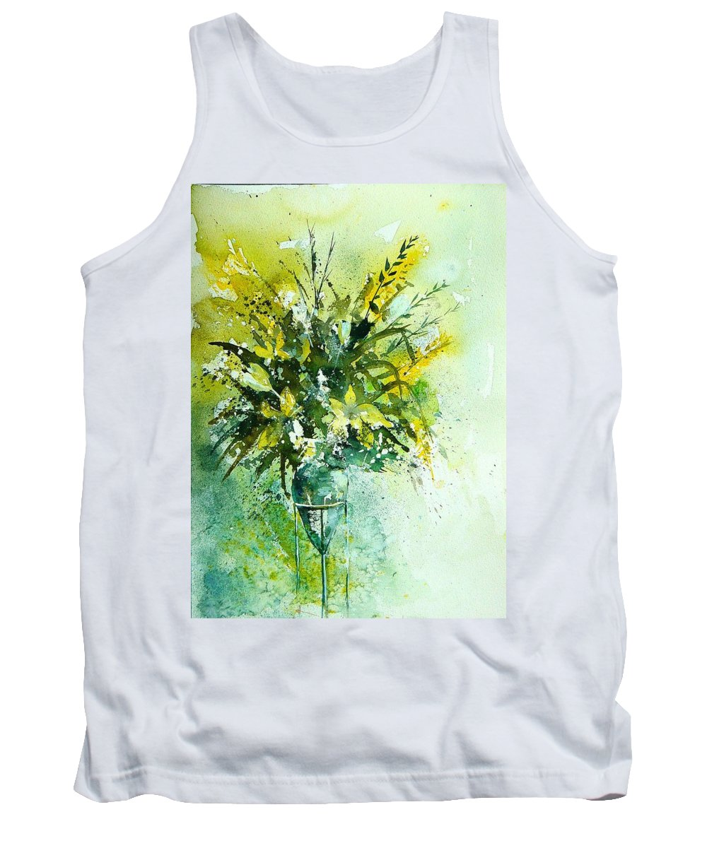Flowers Tank Top featuring the painting Watercolor 120406 by Pol Ledent