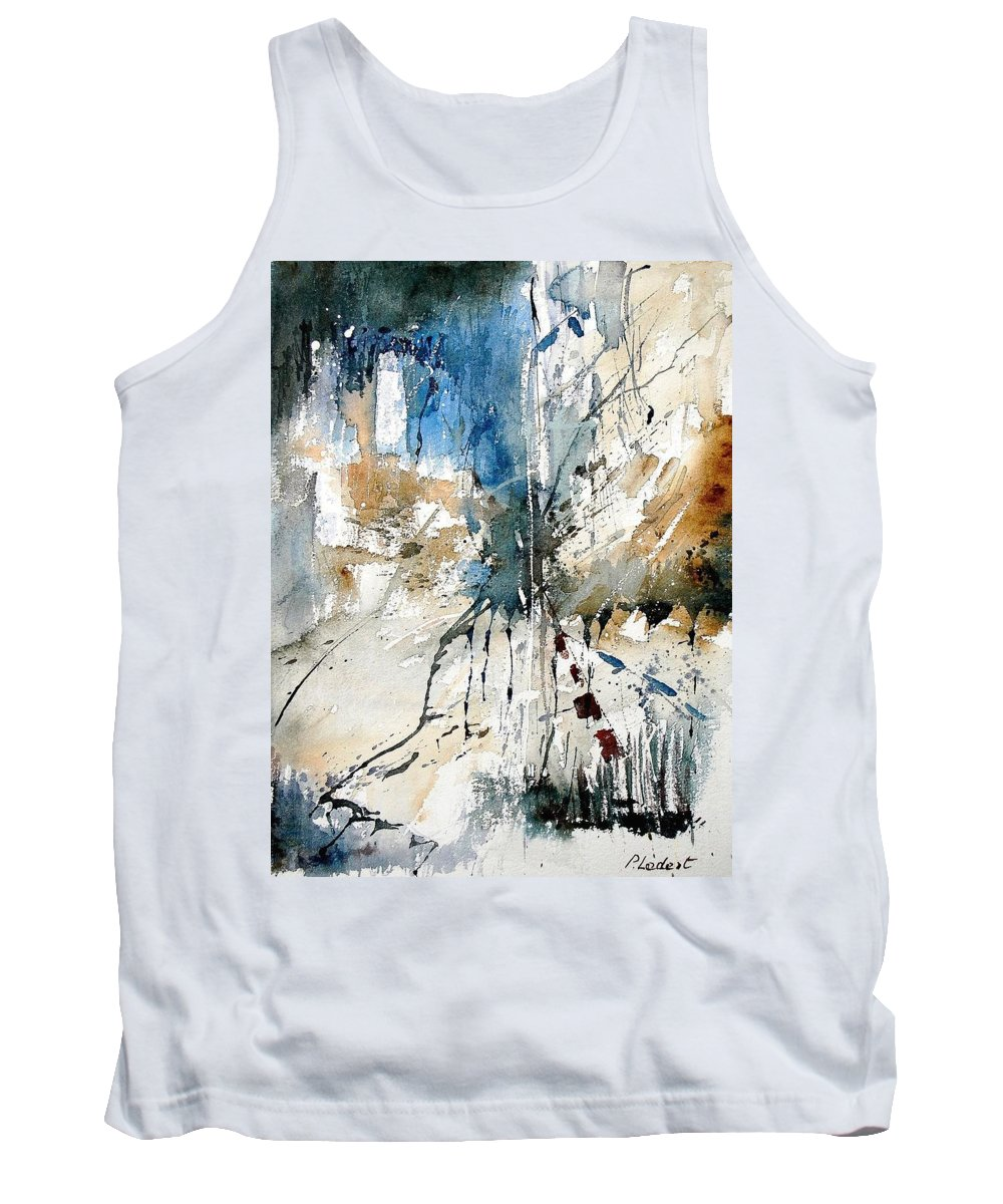 Abstract Tank Top featuring the painting Watercolor 251108 by Pol Ledent