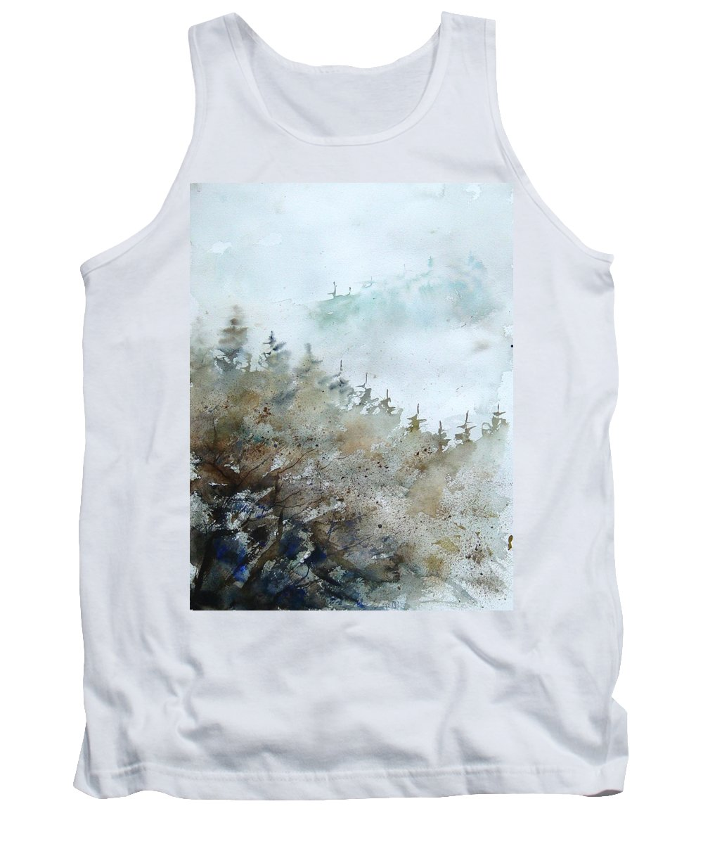 Tree Tank Top featuring the painting Watercolor 356214 by Pol Ledent
