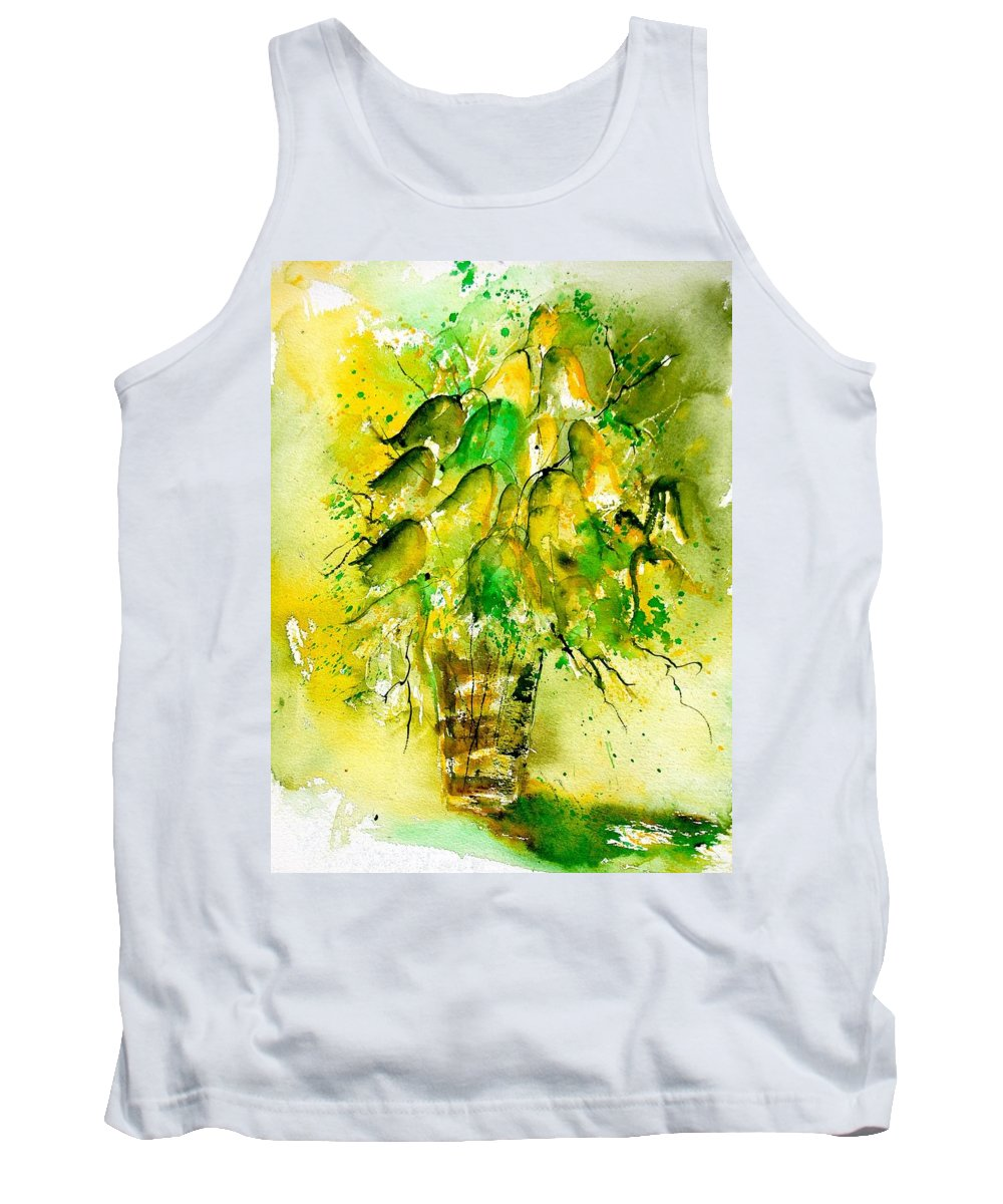 Flowers Tank Top featuring the painting Watercolor 90801 by Pol Ledent