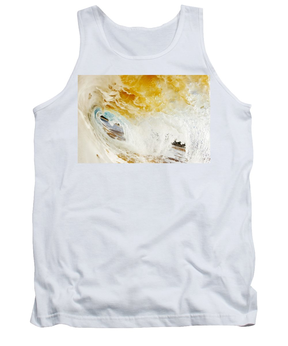 Amazing Tank Top featuring the photograph Wave Whitewash by MakenaStockMedia - Printscapes