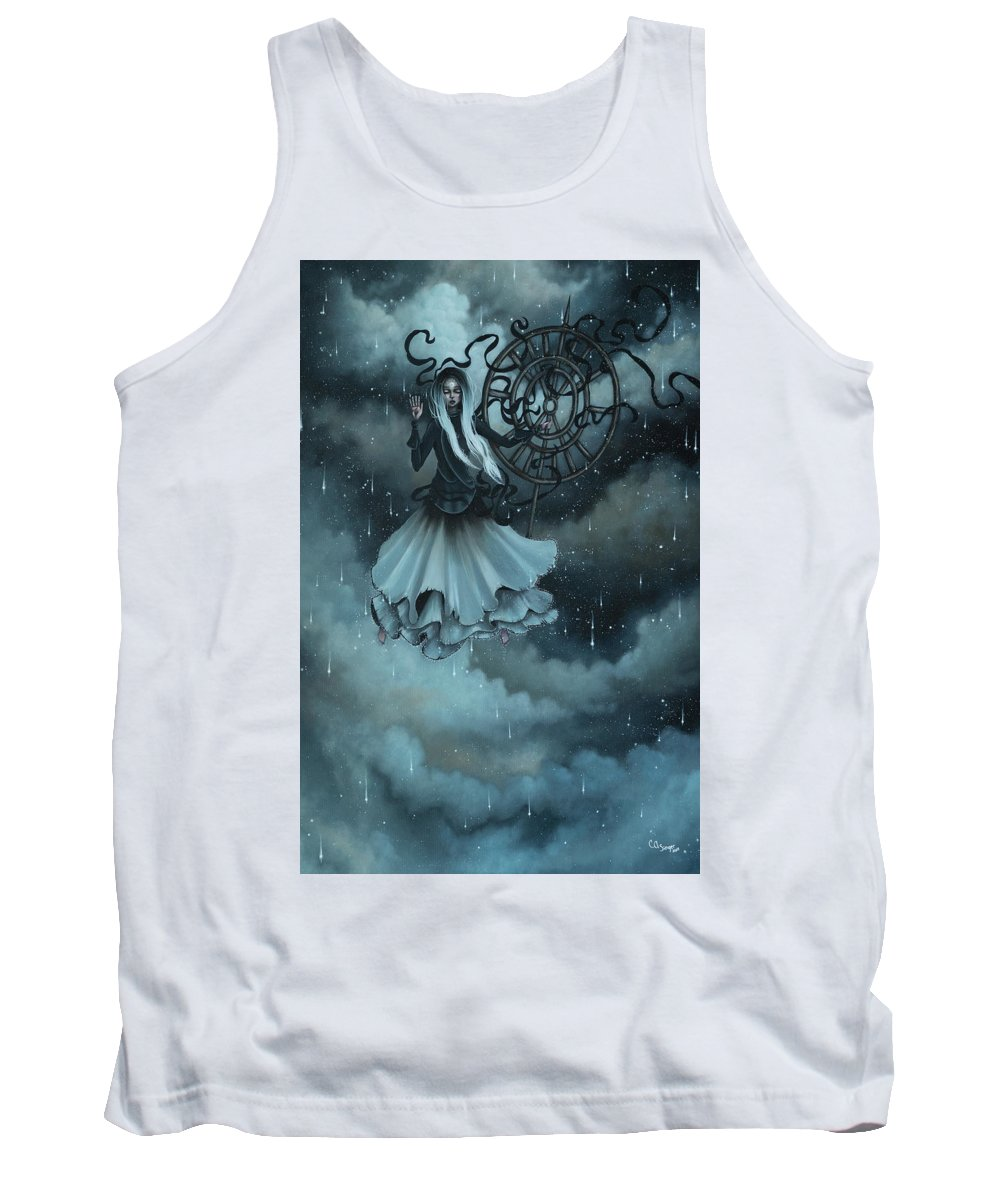 Storm Tank Top featuring the painting Weather Spirit by Camille Singer