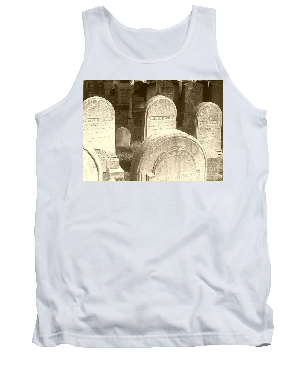 Cemetery Tank Top featuring the photograph Welcome by Debbi Granruth