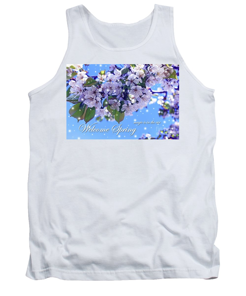 Cherry Blossoms Tank Top featuring the photograph Welcome Spring by Malanda Warner