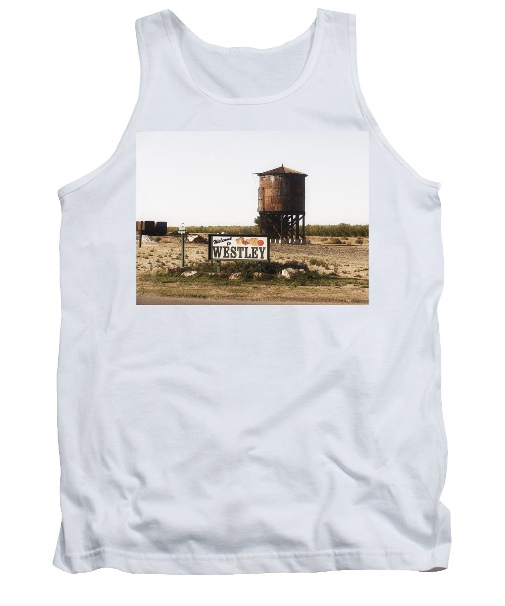 Landscape Tank Top featuring the photograph Welcome To Westley by Karen W Meyer