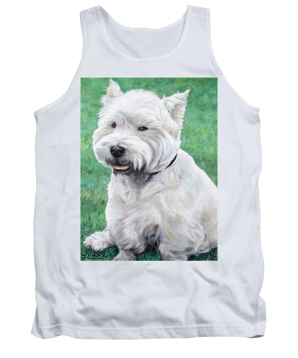 Dog Tank Top featuring the painting West Highland Terrier by Nicole Zeug