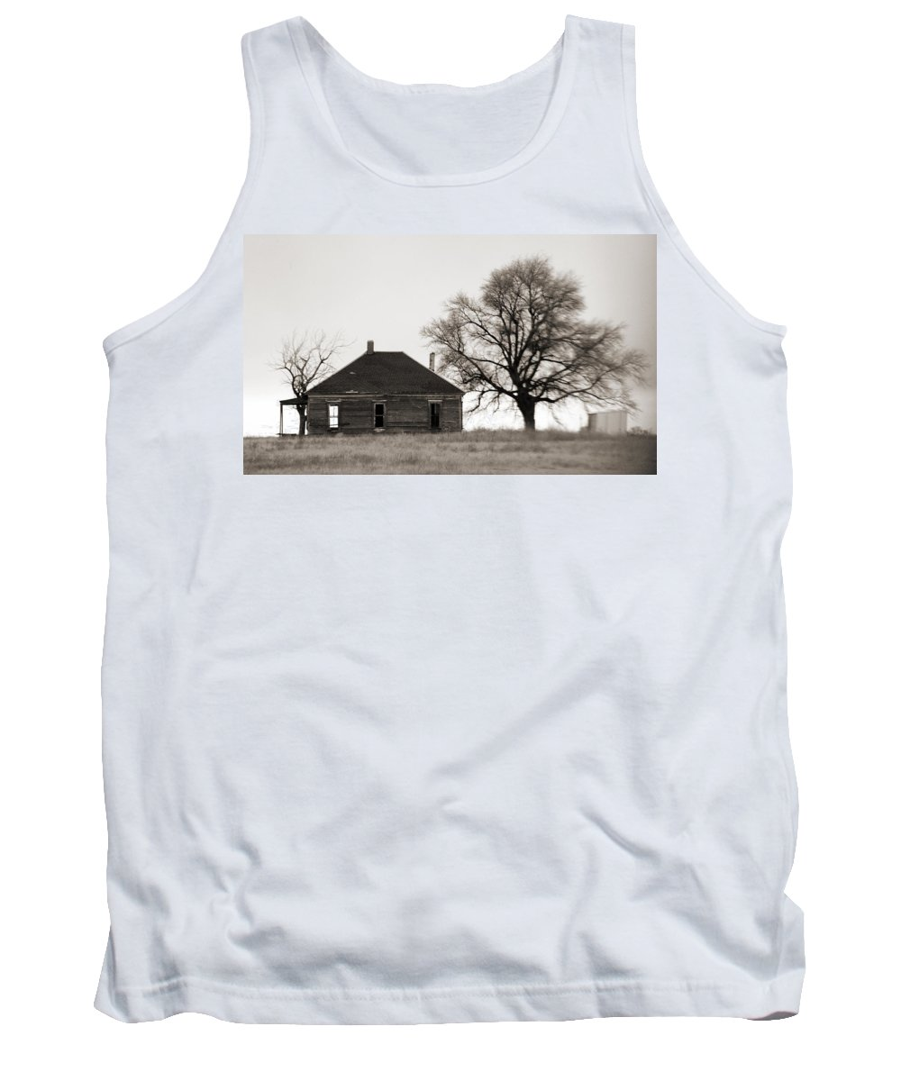Texas Tank Top featuring the photograph West Texas Winter by Marilyn Hunt