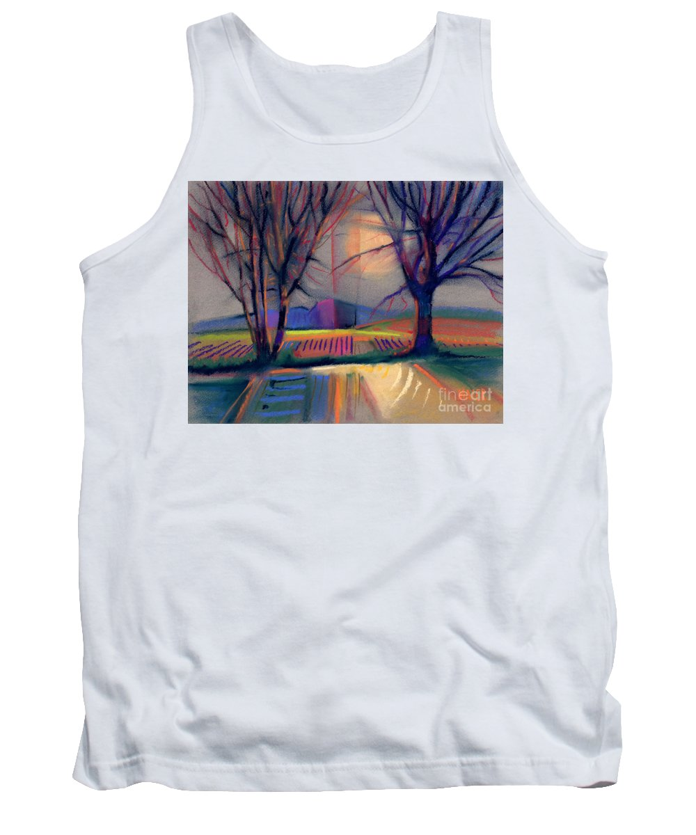 Abstract Tank Top featuring the painting Western Landscape by Donald Maier
