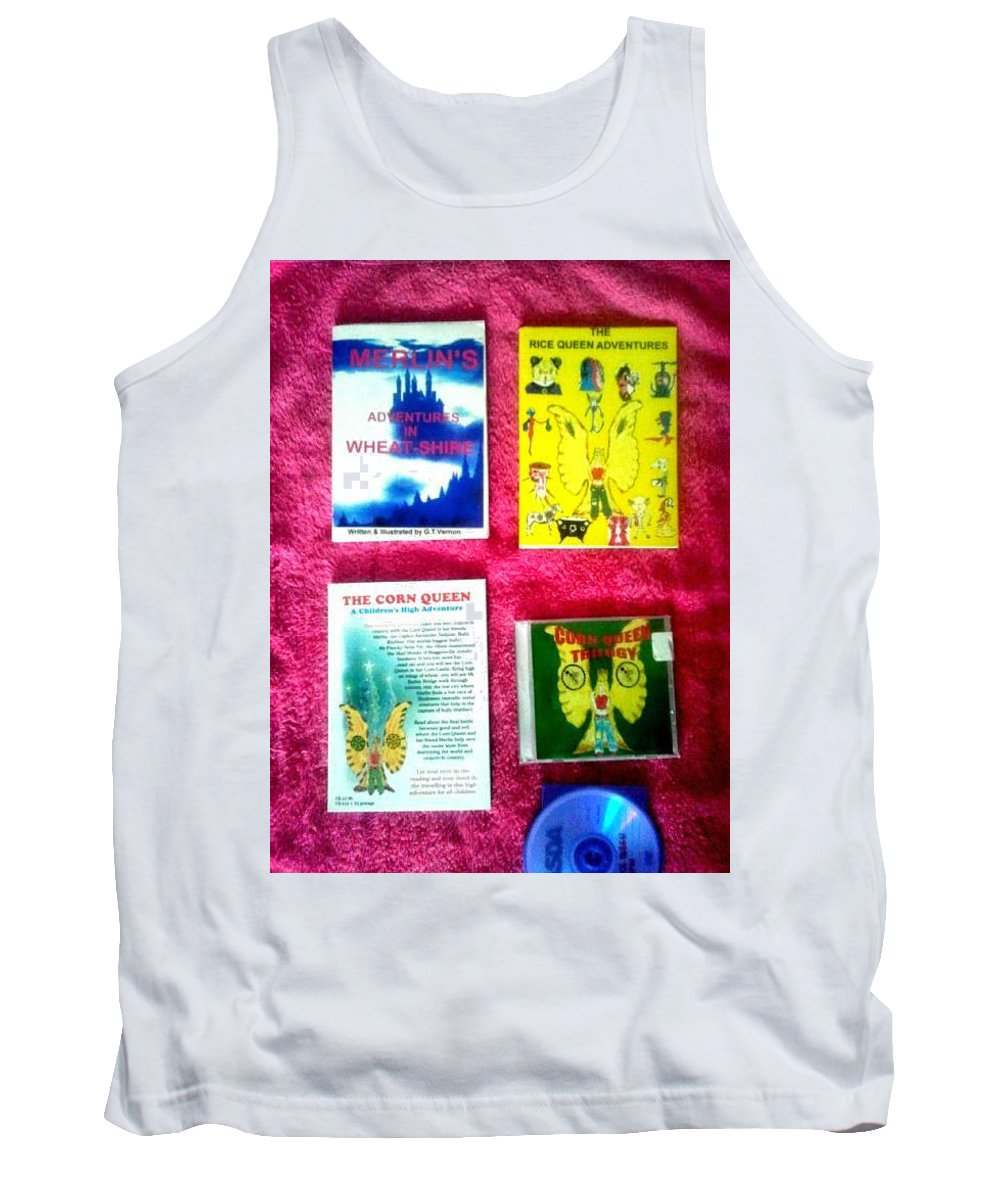 Books Adventure Tank Top featuring the mixed media Wheat-shire Super Heros Cd Animation Demo by MERLIN Vernon