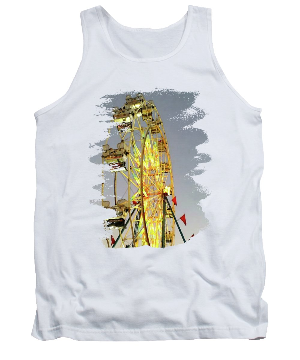 Wheel Of Fortune Tank Top featuring the digital art Wheel Of Fortune by Anita Faye