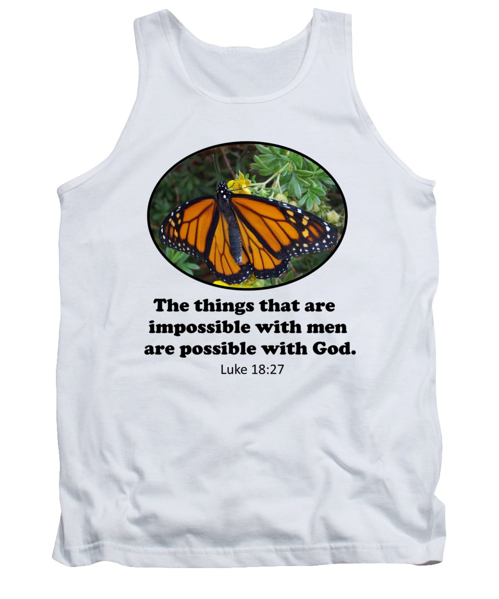 Macro Tank Top featuring the photograph When The Rain Clears Monarch Butterfly by Trinket's Legacy