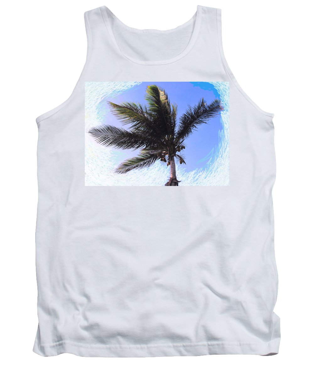 Palm Tank Top featuring the photograph Where Coconuts Come From by Ian MacDonald