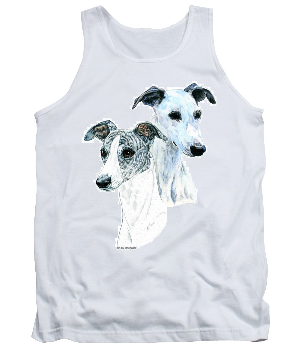 Whippet Tank Top featuring the painting Whippet Pair by Kathleen Sepulveda