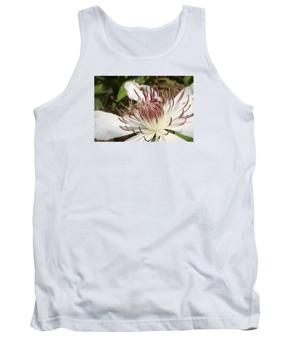 Clematis Tank Top featuring the photograph White Clematis Henryi by Margie Wildblood
