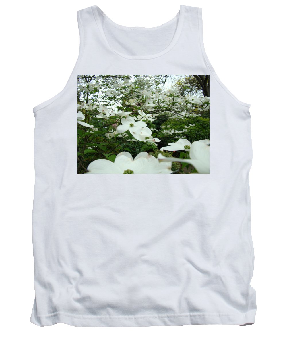 Dogwood Tank Top featuring the photograph White Dogwood Flowers 6 Dogwood Tree Flowers Art Prints Baslee Troutman by Baslee Troutman