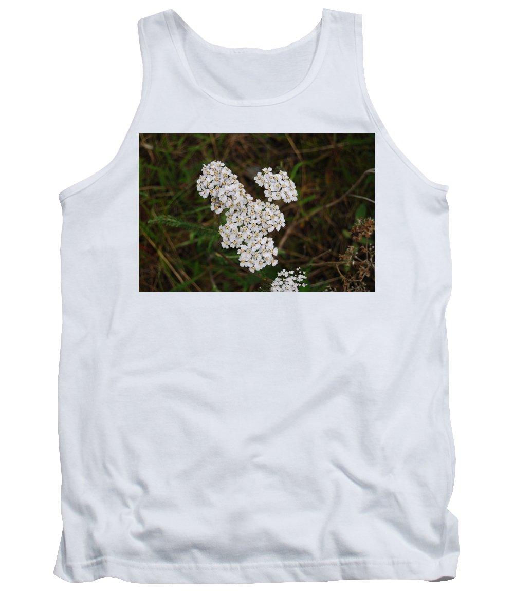 Flower Tank Top featuring the photograph White Flower by Kristen Bird