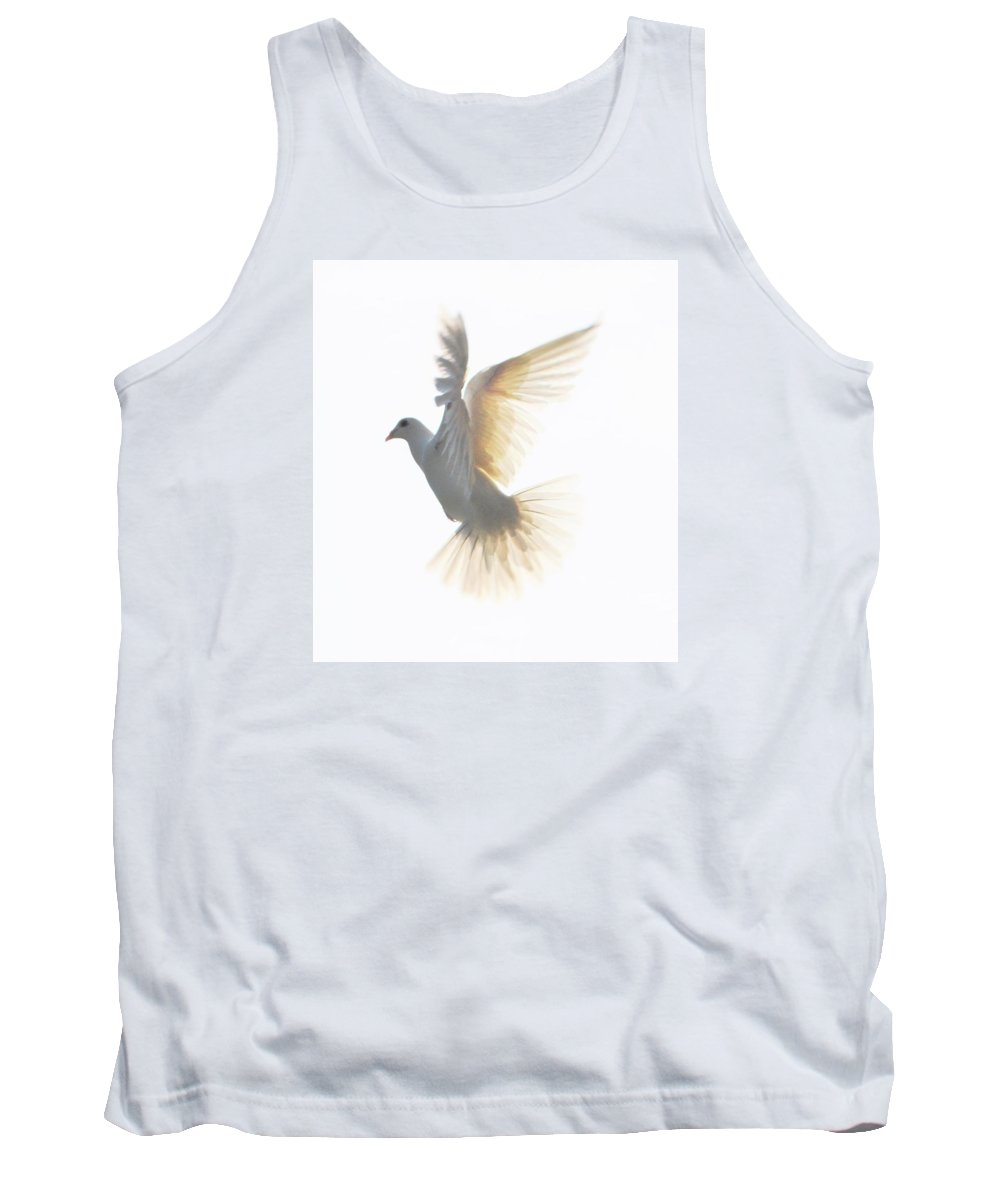Framed Prints Tank Top featuring the photograph White Homing Pigeon#4 by Mary Fields