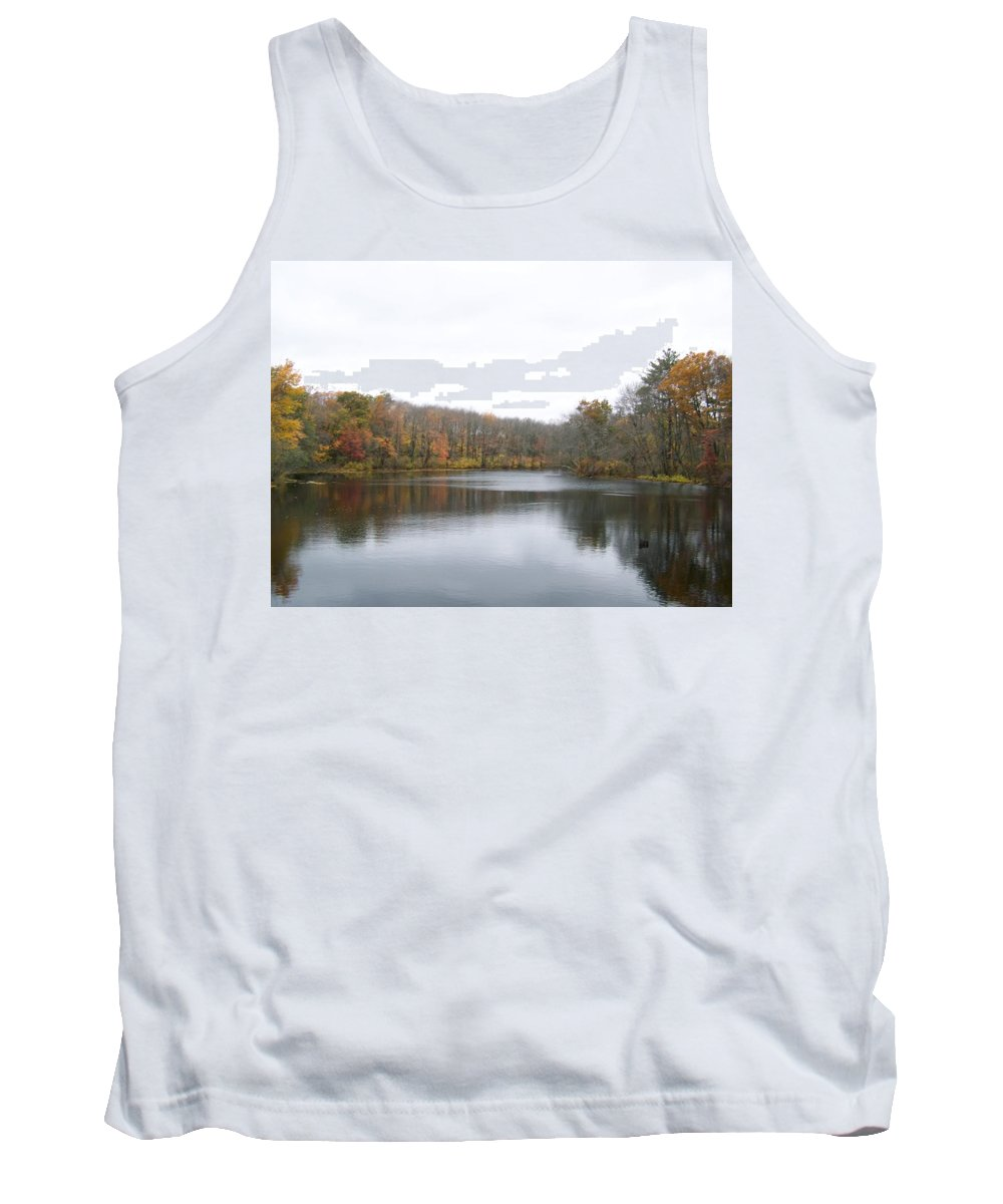 White Mill Park Tank Top featuring the photograph White Mill Park - Fall 1 by Erin Rosenblum