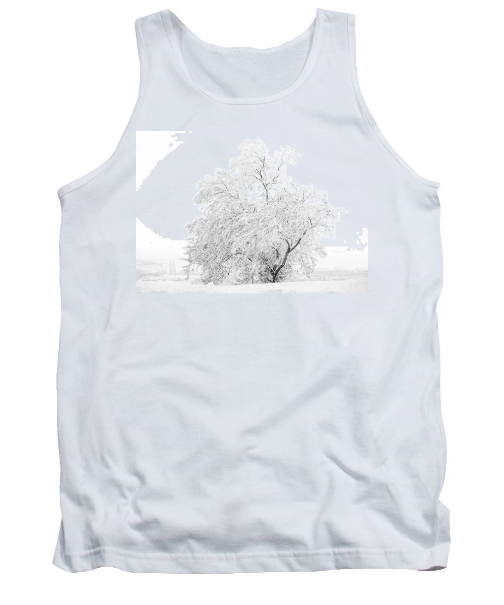Snow Tank Top featuring the photograph White On White by Marilyn Hunt