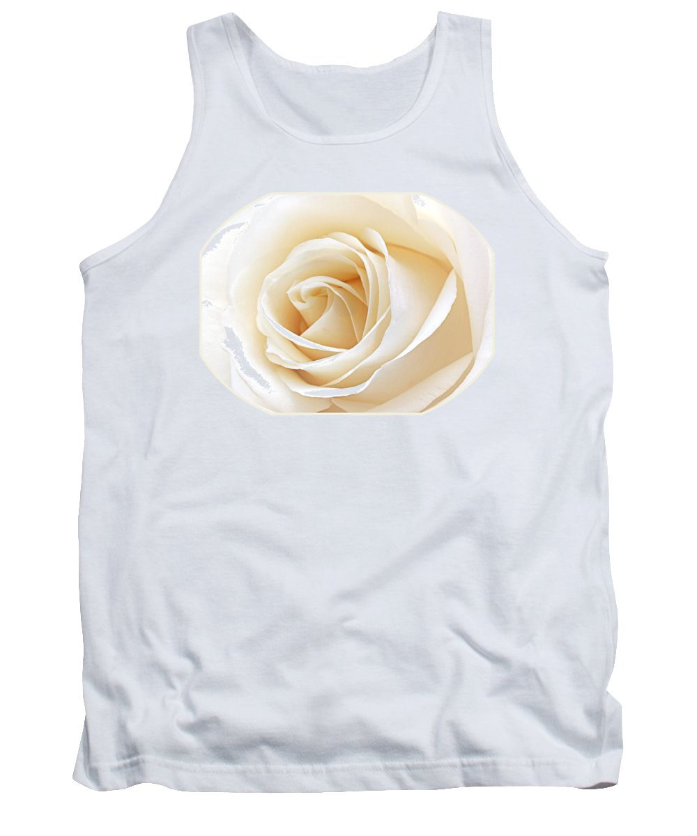 Rose Tank Top featuring the photograph White Rose Heart by Gill Billington