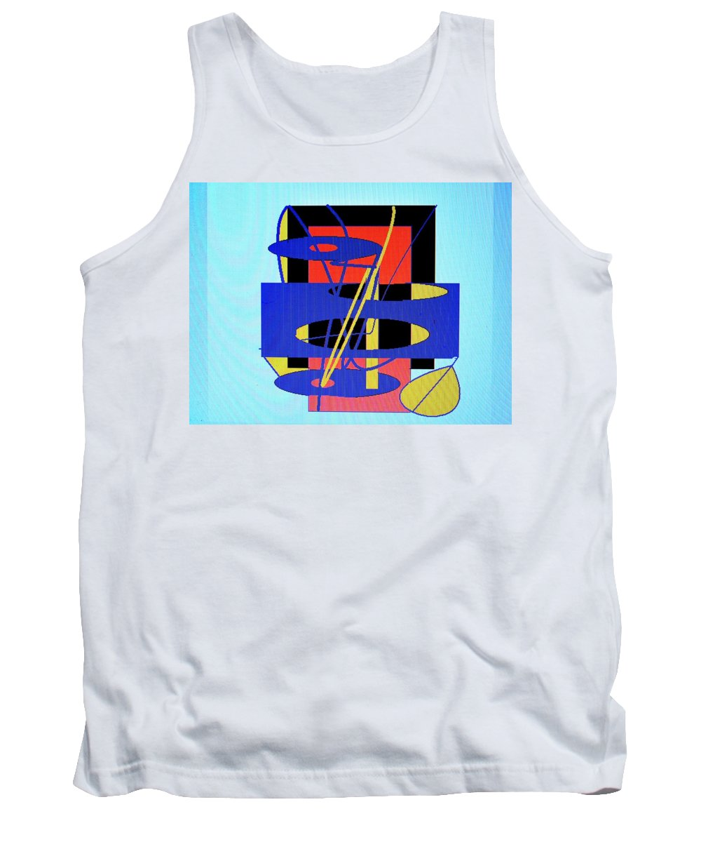 Abstract Tank Top featuring the digital art Widget World by Ian MacDonald